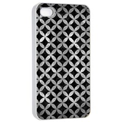 Circles3 Black Marble & Gray Metal 2 Apple Iphone 4/4s Seamless Case (white) by trendistuff