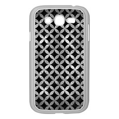 Circles3 Black Marble & Gray Metal 2 Samsung Galaxy Grand Duos I9082 Case (white) by trendistuff