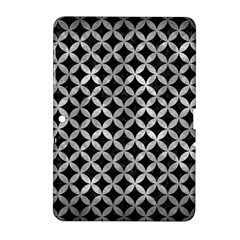 Circles3 Black Marble & Gray Metal 2 Samsung Galaxy Tab 2 (10 1 ) P5100 Hardshell Case