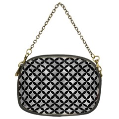 Circles3 Black Marble & Gray Metal 2 (r) Chain Purses (two Sides)  by trendistuff