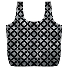 Circles3 Black Marble & Gray Metal 2 (r) Full Print Recycle Bags (l)  by trendistuff