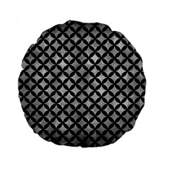 Circles3 Black Marble & Gray Metal 2 (r) Standard 15  Premium Flano Round Cushions by trendistuff
