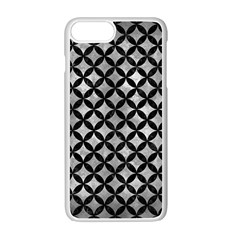 Circles3 Black Marble & Gray Metal 2 (r) Apple Iphone 7 Plus White Seamless Case