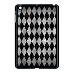 DIAMOND1 BLACK MARBLE & GRAY METAL 2 Apple iPad Mini Case (Black) Front