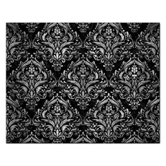 Damask1 Black Marble & Gray Metal 2 Rectangular Jigsaw Puzzl by trendistuff
