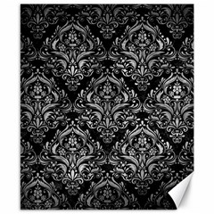 Damask1 Black Marble & Gray Metal 2 Canvas 8  X 10  by trendistuff