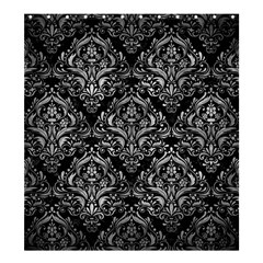 Damask1 Black Marble & Gray Metal 2 Shower Curtain 66  X 72  (large)  by trendistuff