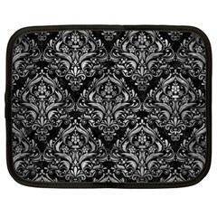 Damask1 Black Marble & Gray Metal 2 Netbook Case (xl)  by trendistuff