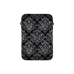 Damask1 Black Marble & Gray Metal 2 Apple Ipad Mini Protective Soft Cases by trendistuff