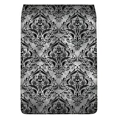 Damask1 Black Marble & Gray Metal 2 (r) Flap Covers (l)  by trendistuff