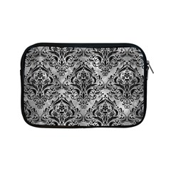Damask1 Black Marble & Gray Metal 2 (r) Apple Ipad Mini Zipper Cases by trendistuff