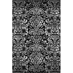 Damask2 Black Marble & Gray Metal 2 5 5  X 8 5  Notebooks by trendistuff