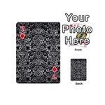DAMASK2 BLACK MARBLE & GRAY METAL 2 Playing Cards 54 (Mini)  Front - Diamond7