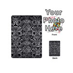 DAMASK2 BLACK MARBLE & GRAY METAL 2 Playing Cards 54 (Mini)  Front - ClubK