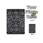 DAMASK2 BLACK MARBLE & GRAY METAL 2 Playing Cards 54 (Mini)  Back