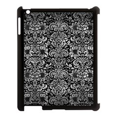 Damask2 Black Marble & Gray Metal 2 Apple Ipad 3/4 Case (black) by trendistuff