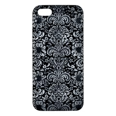 Damask2 Black Marble & Gray Metal 2 Iphone 5s/ Se Premium Hardshell Case by trendistuff