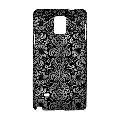 Damask2 Black Marble & Gray Metal 2 Samsung Galaxy Note 4 Hardshell Case by trendistuff