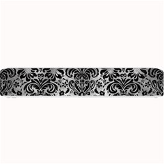 Damask2 Black Marble & Gray Metal 2 (r) Small Bar Mats by trendistuff