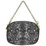 DAMASK2 BLACK MARBLE & GRAY METAL 2 (R) Chain Purses (Two Sides)  Front