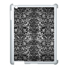 Damask2 Black Marble & Gray Metal 2 (r) Apple Ipad 3/4 Case (white) by trendistuff
