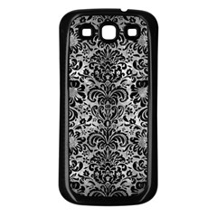 Damask2 Black Marble & Gray Metal 2 (r) Samsung Galaxy S3 Back Case (black) by trendistuff