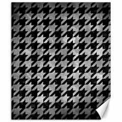 Houndstooth1 Black Marble & Gray Metal 2 Canvas 20  X 24   by trendistuff