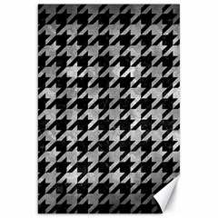 Houndstooth1 Black Marble & Gray Metal 2 Canvas 20  X 30   by trendistuff