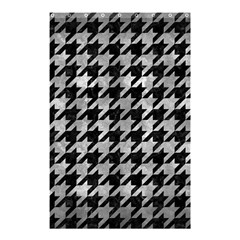 Houndstooth1 Black Marble & Gray Metal 2 Shower Curtain 48  X 72  (small)  by trendistuff