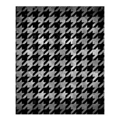 Houndstooth1 Black Marble & Gray Metal 2 Shower Curtain 60  X 72  (medium)  by trendistuff