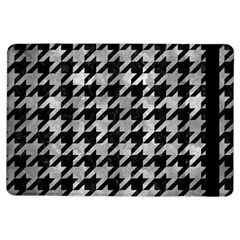 Houndstooth1 Black Marble & Gray Metal 2 Ipad Air Flip by trendistuff