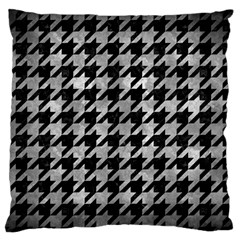 Houndstooth1 Black Marble & Gray Metal 2 Standard Flano Cushion Case (two Sides) by trendistuff