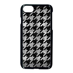 Houndstooth1 Black Marble & Gray Metal 2 Apple Iphone 7 Seamless Case (black)