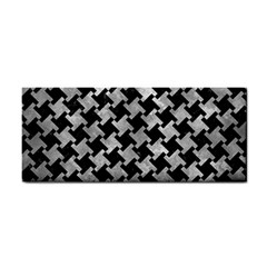 Houndstooth2 Black Marble & Gray Metal 2 Cosmetic Storage Cases by trendistuff