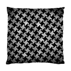 Houndstooth2 Black Marble & Gray Metal 2 Standard Cushion Case (one Side) by trendistuff