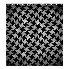 Houndstooth2 Black Marble & Gray Metal 2 Shower Curtain 66  X 72  (large)