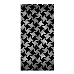 Houndstooth2 Black Marble & Gray Metal 2 Shower Curtain 36  X 72  (stall)  by trendistuff