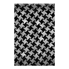 Houndstooth2 Black Marble & Gray Metal 2 Shower Curtain 48  X 72  (small)  by trendistuff