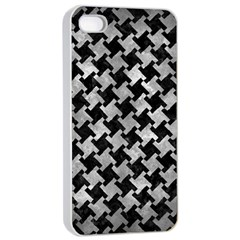 Houndstooth2 Black Marble & Gray Metal 2 Apple Iphone 4/4s Seamless Case (white) by trendistuff