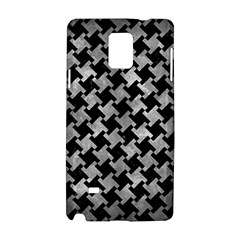 Houndstooth2 Black Marble & Gray Metal 2 Samsung Galaxy Note 4 Hardshell Case by trendistuff