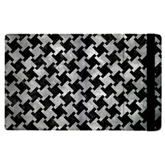 Houndstooth2 Black Marble & Gray Metal 2 Apple Ipad Pro 12 9   Flip Case by trendistuff