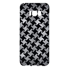 Houndstooth2 Black Marble & Gray Metal 2 Samsung Galaxy S8 Plus Hardshell Case  by trendistuff