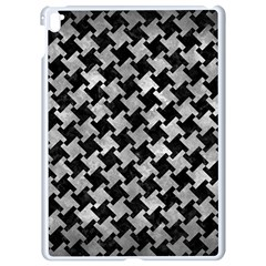 Houndstooth2 Black Marble & Gray Metal 2 Apple Ipad Pro 9 7   White Seamless Case by trendistuff