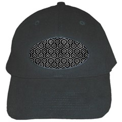 Hexagon1 Black Marble & Gray Metal 2 Black Cap by trendistuff