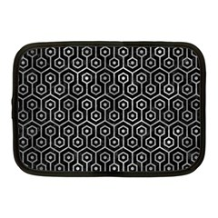 Hexagon1 Black Marble & Gray Metal 2 Netbook Case (medium)  by trendistuff