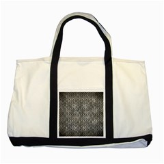 Hexagon1 Black Marble & Gray Metal 2 (r) Two Tone Tote Bag by trendistuff