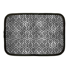 Hexagon1 Black Marble & Gray Metal 2 (r) Netbook Case (medium)  by trendistuff