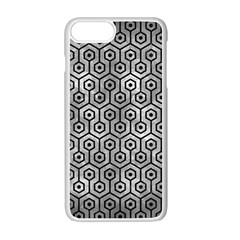 Hexagon1 Black Marble & Gray Metal 2 (r) Apple Iphone 7 Plus White Seamless Case by trendistuff