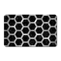 Hexagon2 Black Marble & Gray Metal 2 Magnet (rectangular) by trendistuff
