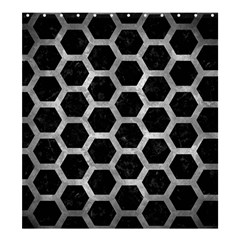 Hexagon2 Black Marble & Gray Metal 2 Shower Curtain 66  X 72  (large)  by trendistuff